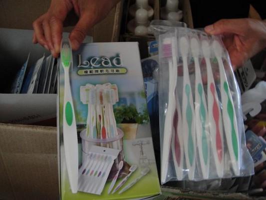 避難所歯ブラシ