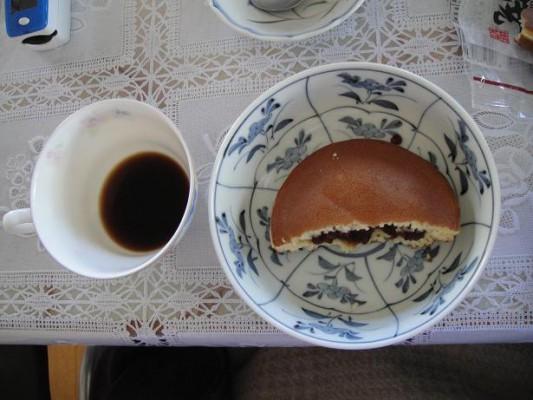 どら焼き・コーヒー