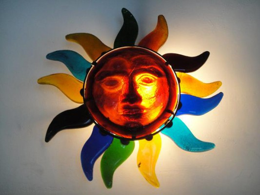 ステンドグラス太陽